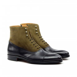 Lace Up Captoe Boot